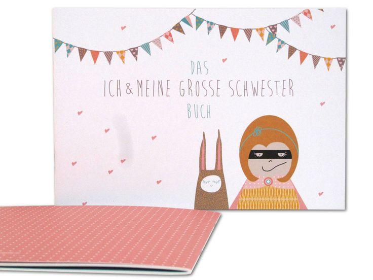 """Das """"Ich und meine große Schwester - Buch"""": In diesem Buch kommen beide Geschwister nicht zu kurz und die ältere Schwester findet auch einen Platz im Erinnerungsalbum. Das Buch eignet sich also auch perfekt zum Verschenken."""