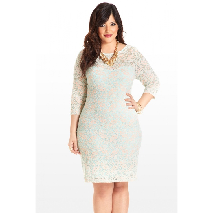 Pastel Present and Future Lace Dress