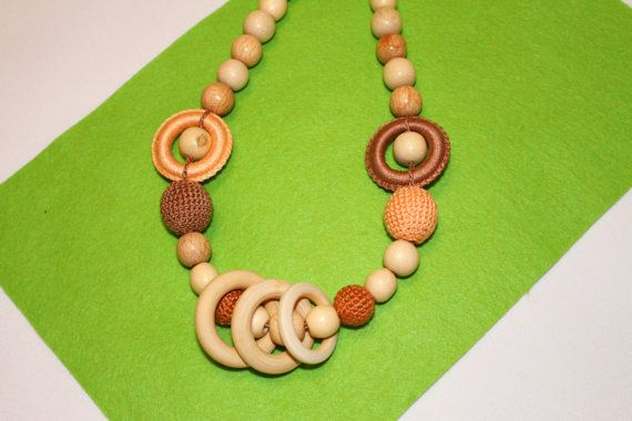 Nursing Necklace with Rings for Mom  Moms by EcoBabyMarket on Etsy