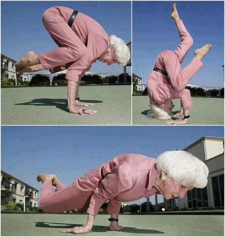 """83 year old woman practicing yoga after 40 years! """"Get it granny!!"""""""