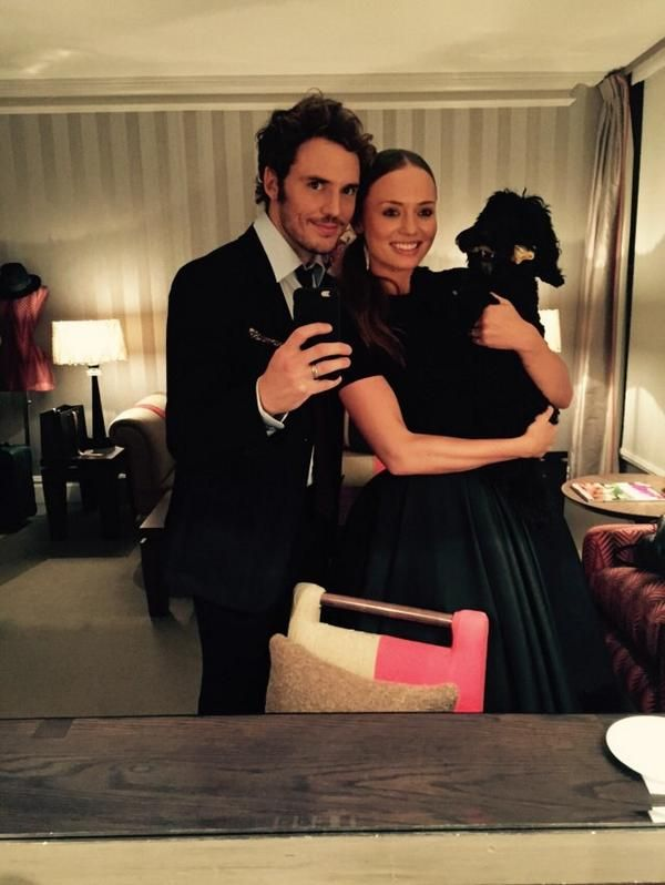 Sam Claflin and Laura Haddock. They're so adorable.