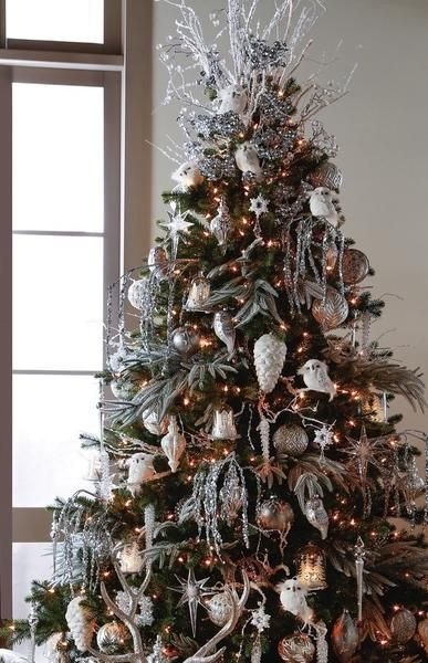 First Snow Christmas tree theme from Raz Imports