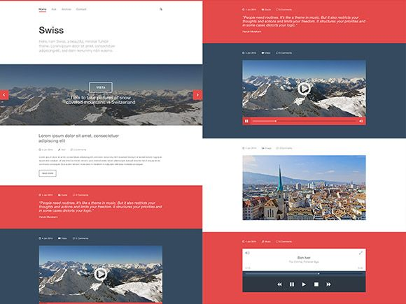 44 best psd images on pinterest design web graphics and user swiss is a clean and minimal tumblr template designed with photoshop free psd released by pronofoot35fo Choice Image