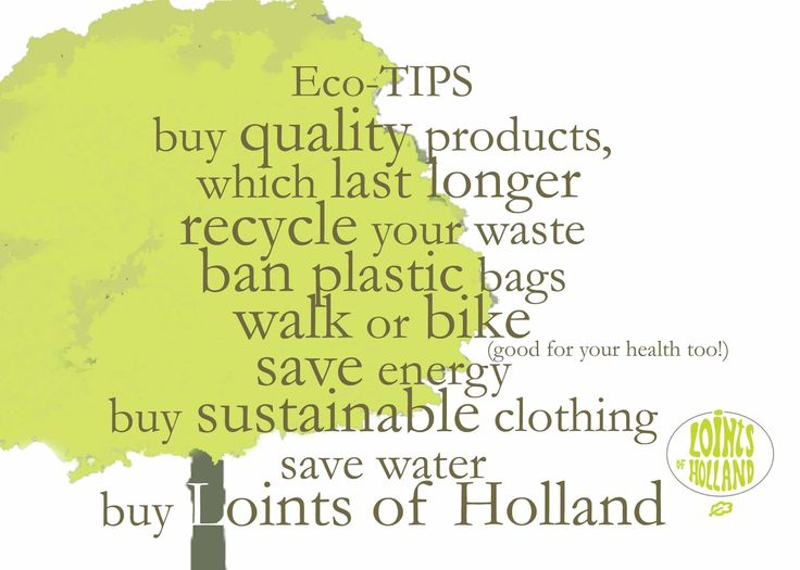 Loints of #Holland #Eco tips