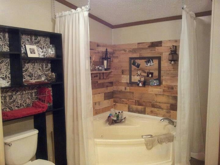 Corner Garden Tub Redo Mobile Home Living Pinterest Gardens Curtain Ro