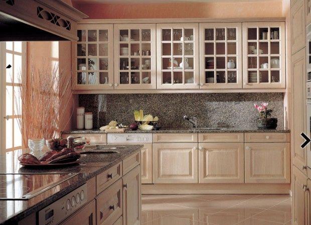 la madera en la cocina
