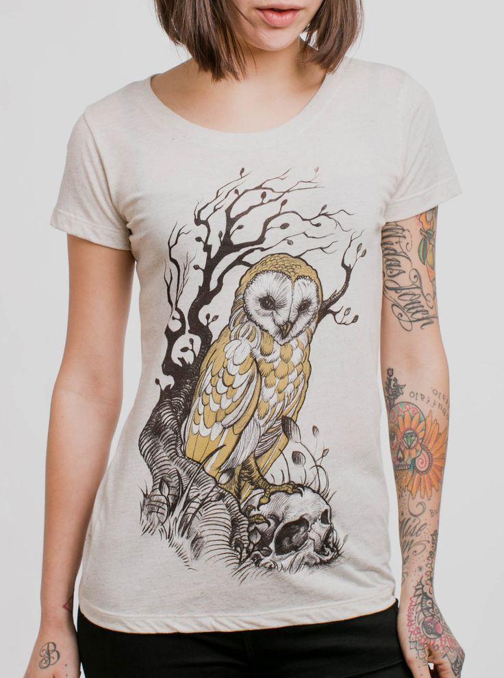 Barn Owl Skull Women/'s Crop Top