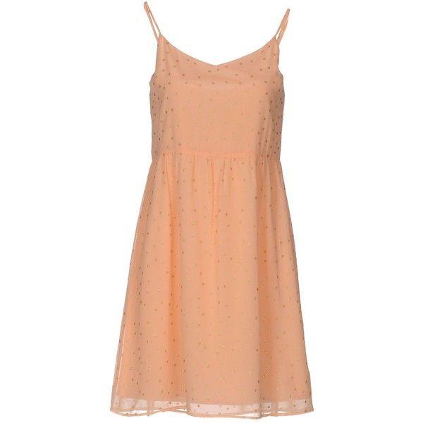 Des Petits Hauts Short Dress ($175) ❤ liked on Polyvore featuring dresses, pink, short dresses, polka dot dress, short red dress, red dress and pink polka dot dress
