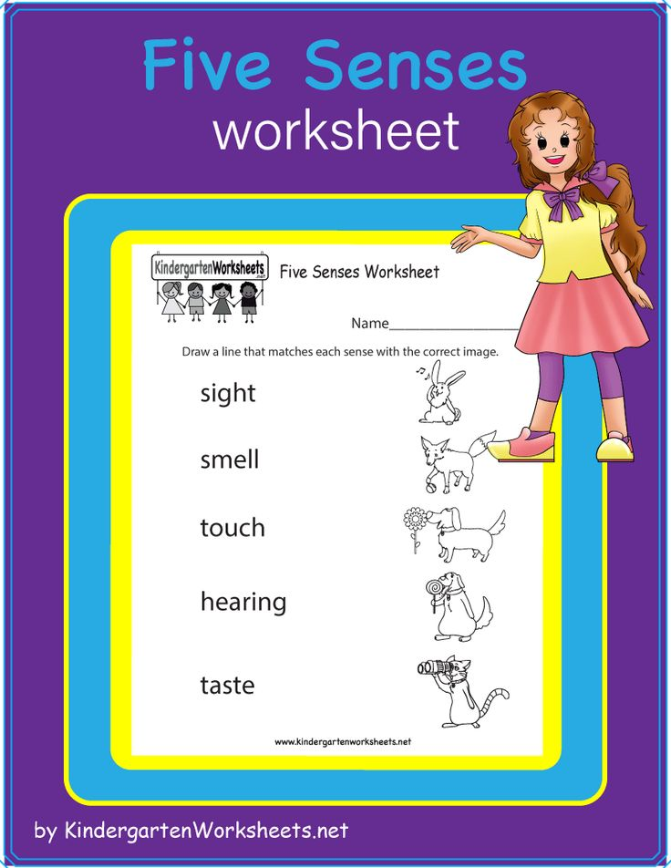 This Is A Free Five Senses Worksheet Students Are Asked To Match