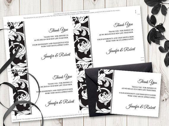 25+ parasta ideaa Pinterestissä Thank you card template - thank you card template