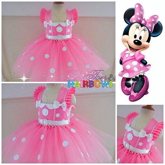Vestido Tutu de Minnie Mouse vestido Minnie ratón por GlitterMeBaby