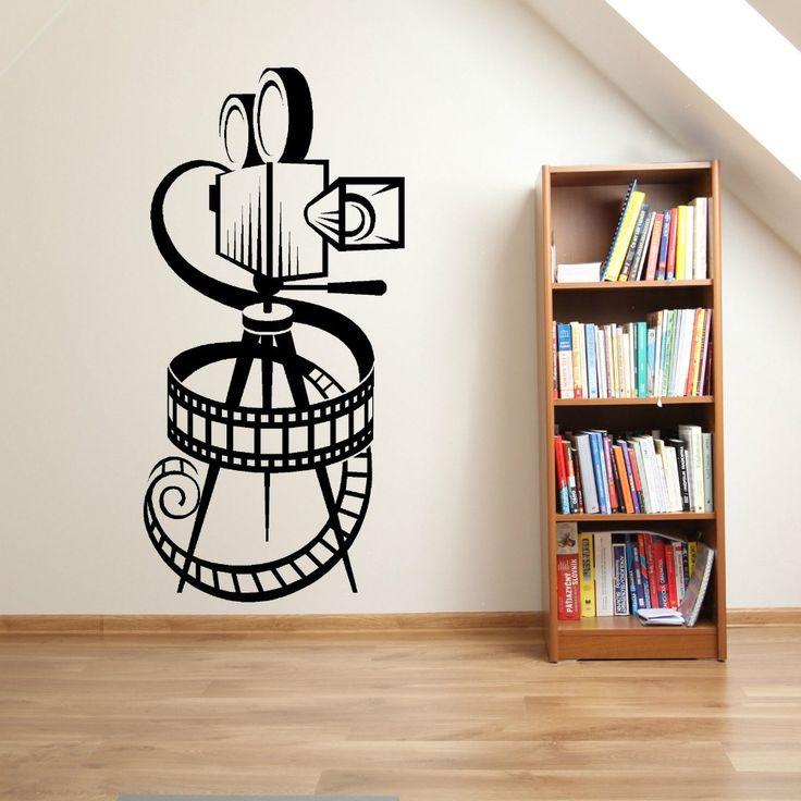 CÁMARA de PELÍCULA de ROLLO de PELÍCULA de CINE EN CASA de LA VENDIMIA TEATRO Vinyl Wall art sticker decal Decoración de La Pared Para la Sala de estar Mural(China (Mainland))