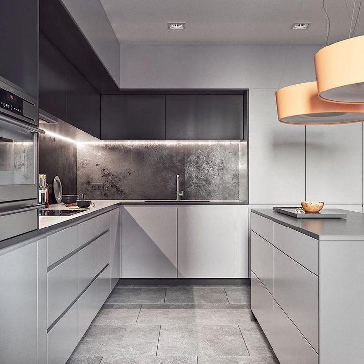 кухня в серых тонах дизайн фото нож это тот