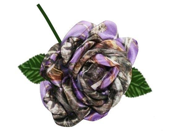 Purple Camo Rose - Camo Wedding - Camo Bridal Bouquet - Camo Flower - Camo Rose