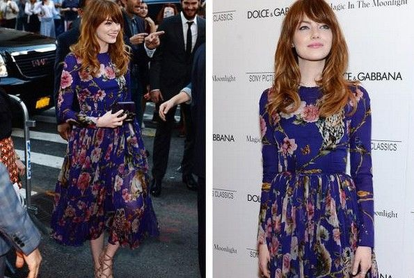 THE GOOD: The boys behind Dolce & Gabbana love a floral print, and this is one of their best yet: #EmmaStone #redcarpet #bestdressed #smh #lifeandstyle