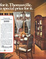 Thomasville Cellini Dining Room 1972 Ad Picture