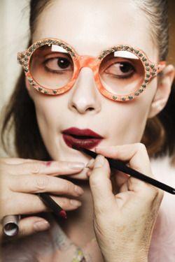 missoni backstage, suzie birdLips Colours, Makeup, Dark Red Lipsticks, Dark Lips, Missoni, Lips Colors, Sunglasses, Style Blog, Beautiful Trends