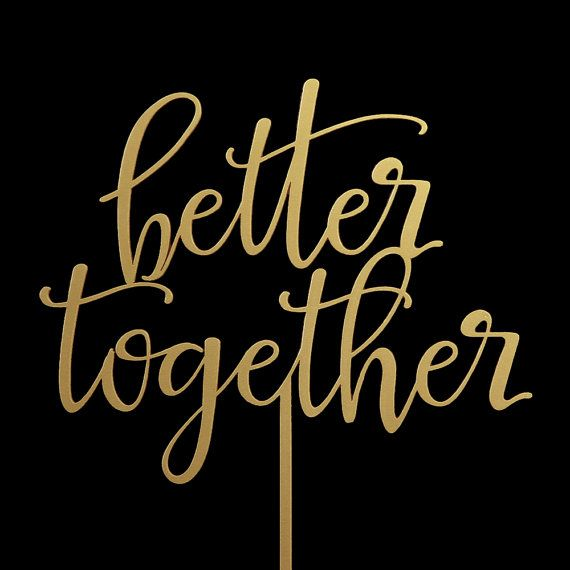 Better Together Wedding Cake Topper   Keepsake by CakeTopperBliss