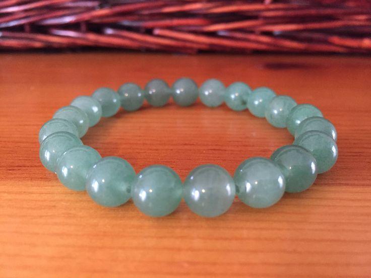 Green Aventurine bracelet, heart chakra, healing bracelet. A personal favorite from my Etsy shop https://www.etsy.com/listing/575530092/green-aventurine-beaded-bracelet-healing
