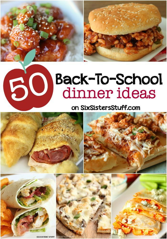 50 Back to School Dinner Ideas, save time and money by cooking from scratch.