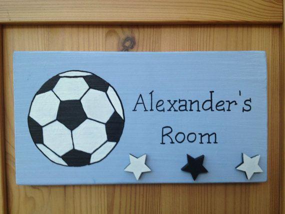 Personalised children's bedroom football door by SundaleDesigns