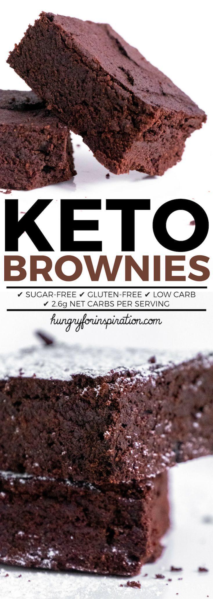 Fudgy Keto Brownies (Easy Keto Brownie Recipe) – W…