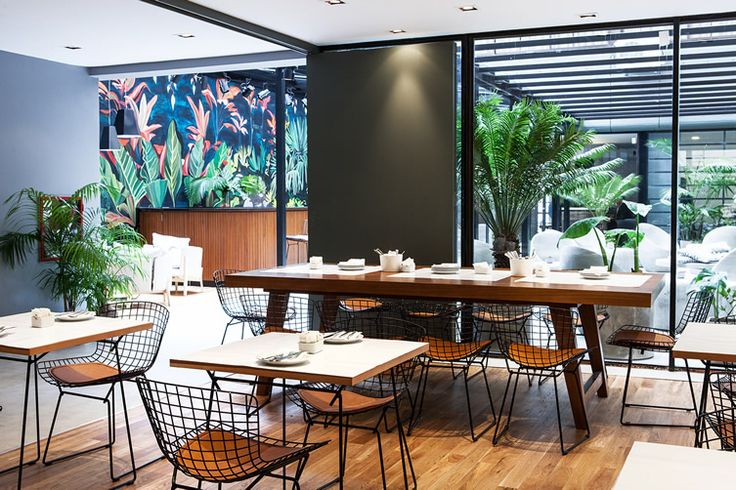 Arroyo Hotel — Buenos Aires #cafe #greenery #mural