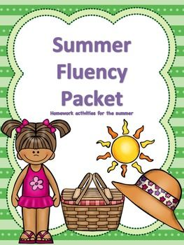 Fluency homework for the summer! Yes! I am always looking for this! 8 weeks of work for ages K - 5th grade. Targets smooth, easy speech maintenance.