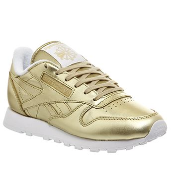 Reebok Classic Leather (w) Light Gold Face - Hers trainers