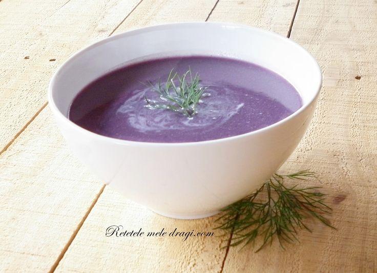 Supa violet de hrisca si varza rosie