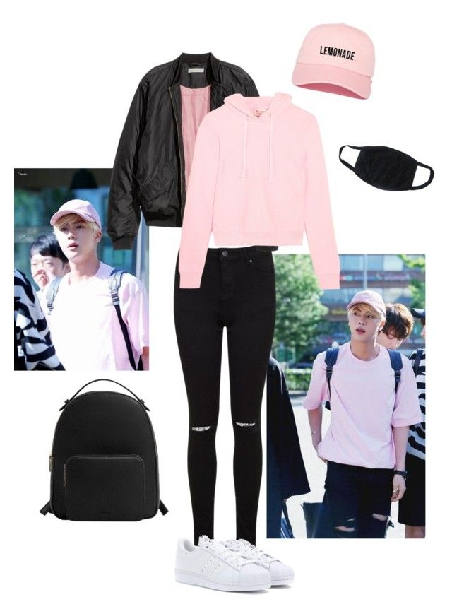"""jin inspired outfit"" by jan-arquiza ❤ liked on Polyvore featuring Miss Selfridge, H&M, Vetements, adidas and MANGO"