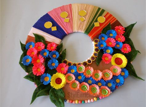 10 best best out of waste images on pinterest recycling for Waste material craft work with paper