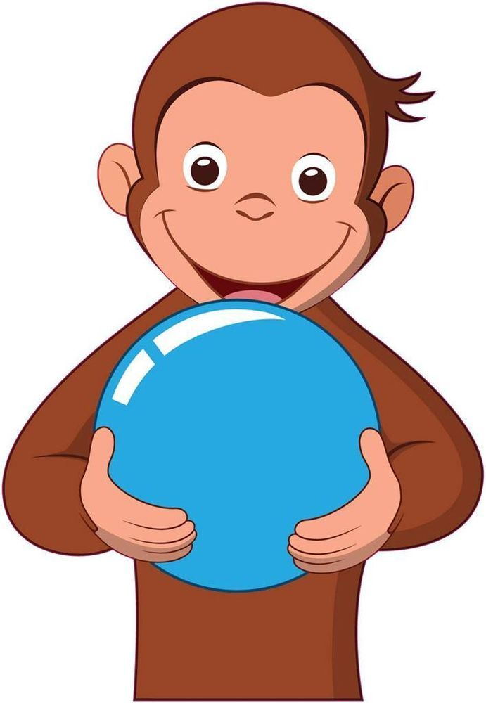 huge curious george decal removable wall sticker home decor art kids bedroom