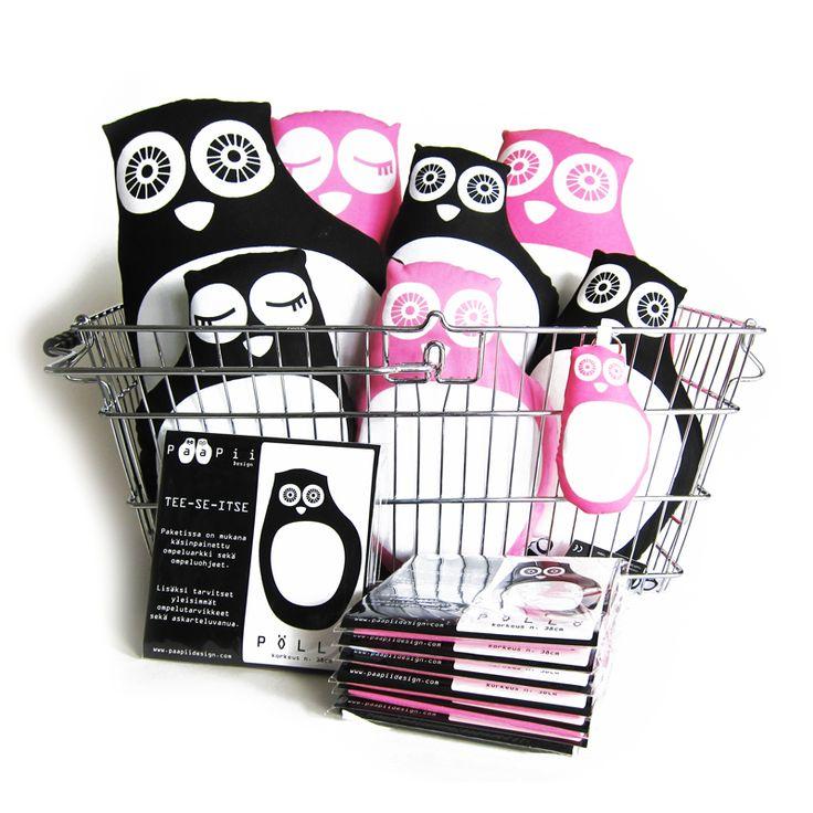 PaaPii Design - TSI PÖLLÖ, pinkki tai musta, tee-se-itse-paketti. hinta 21,20