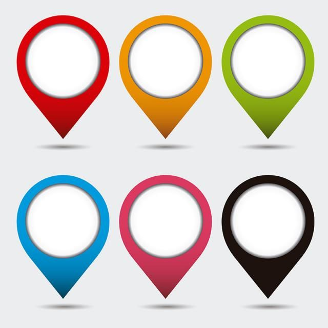 Pin Mark Set Collection With Shadow, Marker, Mark, Location PNG and