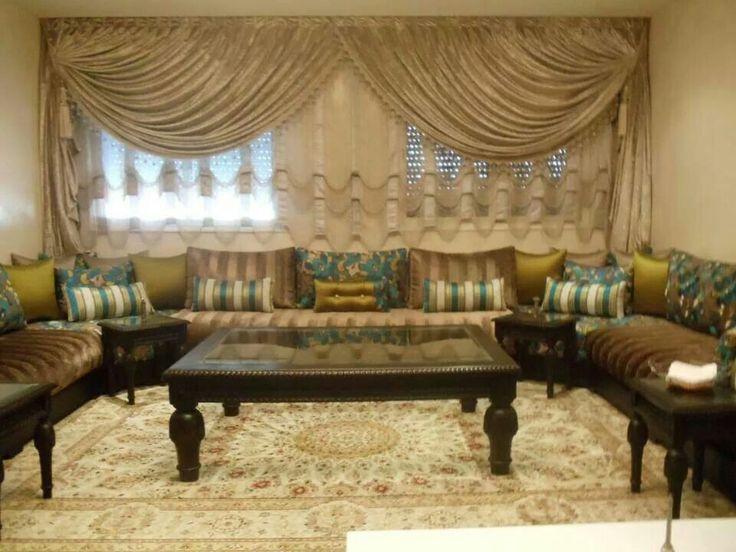 as salon beldisalon marocain moderne - Decoration Salon Moderne 2013 En Marron