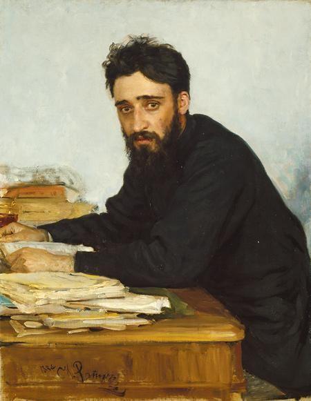 Vsevolod Mikhailovich Garshin - Ilya Repin (1884)