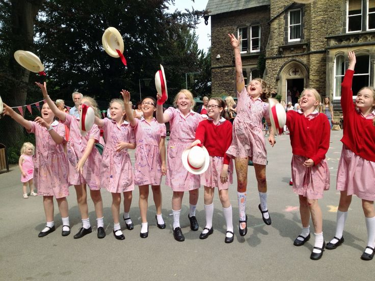 These Moorfield School year six girls are celebrating their final day as they prepare to move to their new schools. They will be be moving on to a variety of schools including Ilkley Grammar School, Harrogate Ladies College, Ashville College, Bradford Grammar School, Giggleswick School and one girl is going to the United States to finish her education.