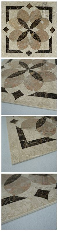 Turkey Feslikan Oscar Beige Marble Composite Marble Panel, Fashion Design Home Decor Marble Price, Composited Marble Waterjet Medallion Tiles