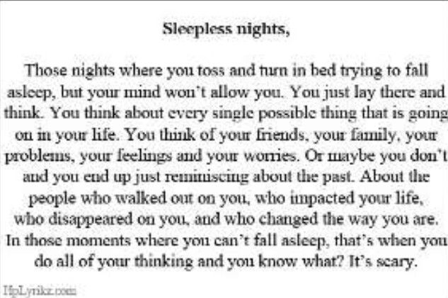 25+ Best Sleepless Night Quotes On Pinterest