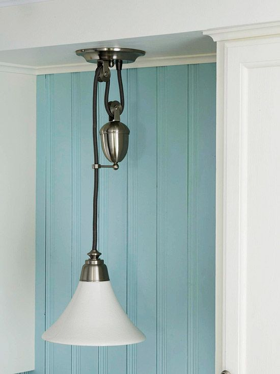 kitchen nook lighting before and after cottage kitchen vintage style pulley 2341