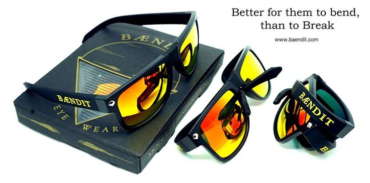Ned Kelly Limited Edition Matte Black Frames / Gold Lenses / Black Temples and Nose Bridge / Yellow BAENDIT logo.