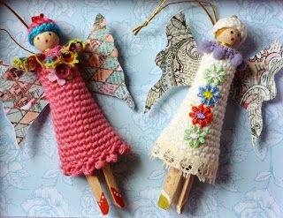 Christmas puppets, little angels