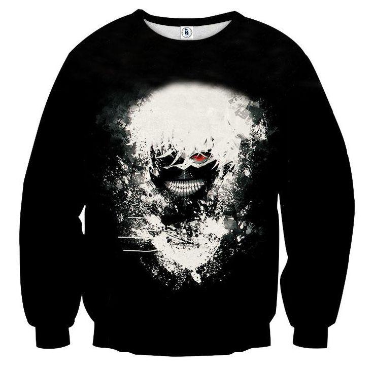 Tokyo Ghoul Anime Fashionable Design Vibrant Print Sweatshirt — Konoha Stuff #TokyoGhoul #Anime #Fashionable #Sweatshirt #Konoha