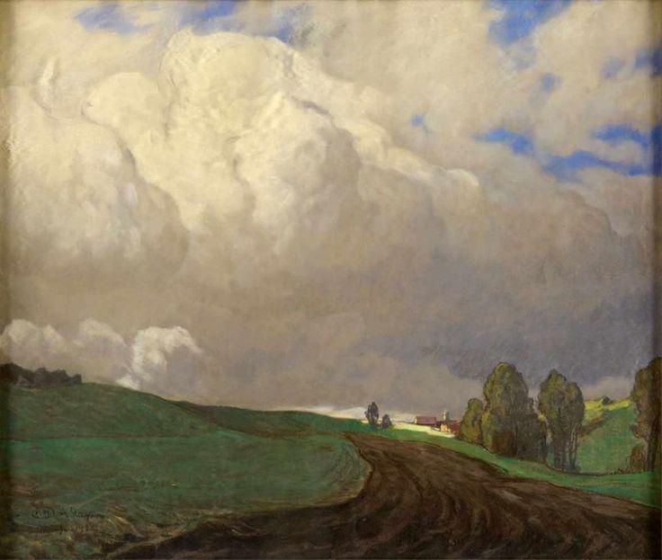 Stagura, Albert   1866 Dresden - 1947 Gstadt/Chiemgau Aufziehendes Wetter. Signiert. Datiert Münche