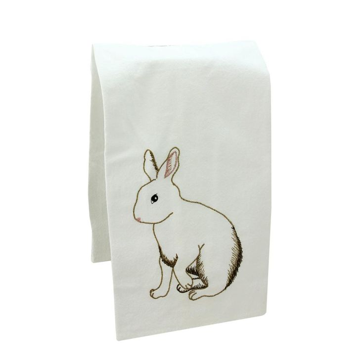27 Antique Style Embroidered Bunny Rabbit Flour Sack Kitchen Hand Towel 32023133 | ChristmasCentral