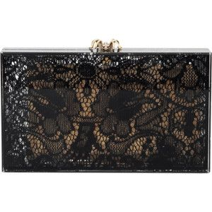 CHARLOTTE OLYMPIA Inlay Lace Detail Clutch