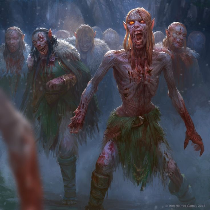 elven zombie horde, devin platts on ArtStation at https://www.artstation.com/artwork/rOdY2