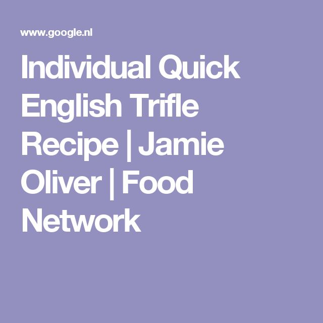 Individual Quick English Trifle Recipe   Jamie Oliver   Food Network