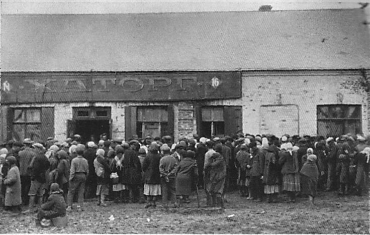 """The empty """"Chartorg"""" (Charower Trade Cooperative)food distribution site is besieged by a devastated population in Kharkiv.."""